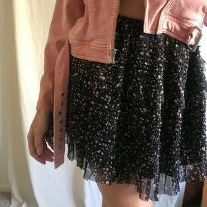NEW ALLSAINTS Size Medium Pepper Tiered Mini Skirt